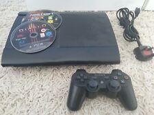 Sony Playstation 3 ps3 Super Slim 12 GB Konsole mit offizieller Controller & Kabel