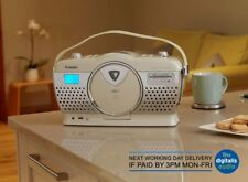 Steepletone Stirling 3 CREMA Retrò Bluetooth Portatile 3 BANDE FM MW LW Radio CD