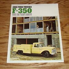 Original 1966 Ford Truck F-350 Sales Brochure 66 Pickup Stake Chassis Cab