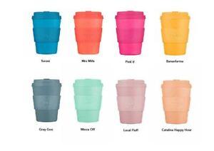 Ecoffee Cup Reusable Eco Friendly Coffee Travel Mug Trend Colours sleeve & lid