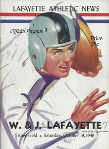 1946 Washington Jefferson Football Program Signed HOF Wilbur Henry Dan Towler 33