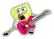 SpongeBob Guitar Cartoon Car Bumper Sticker Decal 5'' x 3''