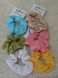Small 7cm 100% Cotton Scrunchies - Choice of 6 Colours
