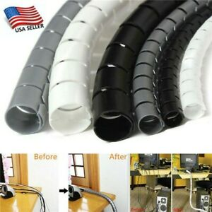 2M Tube Spiral Wire Wrap Management Storage Pipe Cable Organizer Cord Protector