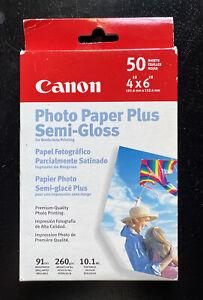 Canon Photo Paper Plus Semi-Gloss SG-101 4x6 - 50 Sheets New