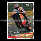 ★ ALEX CRIVILLE HONDA NSR MOTOGP TURKMENISTAN Timbre Moto Motorcycle Stamp #428