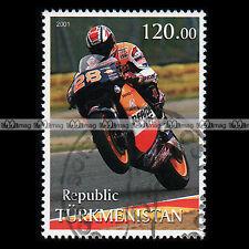 ★ ALEX CRIVILLE ONDA NSR MOTOGP ★ TURKMENISTAN Timbre Moto Motorcycle Stamp #428