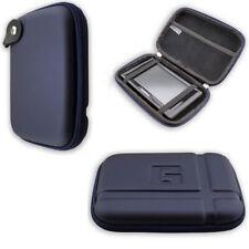 caseroxx GPS-Case voor Navitel E500 in blue gemaakt van faux leather