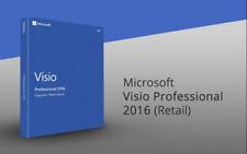 Microsoft Visio Profi 2016 Lizenz Retail + DVD  Version Komplett