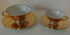RARE Rudolf Wachter RW Bavaria Germany GOLD GOLDEN Teacups Cups & Saucer Sets