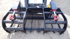 "NEW USA 60"",5' JOHN DEERE COMPACT TRACTOR light weight GRAPPLE ROOT RAKE 200 300"
