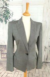 VERSUS VERSACE Black & grey Wool blend jacket blazer size UK 10/12