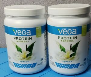 Vega Protein & Greens Vanilla Flavored Powder- 2 Pack! BB 2020