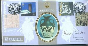 Great Britain 2000 Art and Craft FDc signed by Henry Sandon