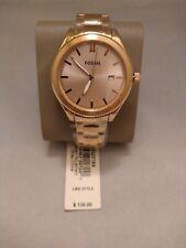 Fossil Women's Classic Rose Gold Dial Watch - BQ3184