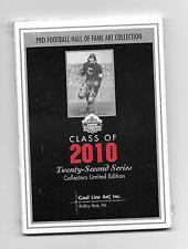 2010 Goal Line Art Card Set Emmitt Smith, Jerry Rice, John Randle, Floyd Little