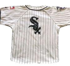 Chicago White Sox Starter Jersey Kids Medium MLB PINSTRIPES Baseball RARE WHITE