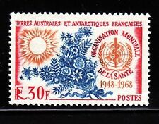 French Southern & Antarctic Territory Sc 31 NH WHO issue of 1968