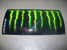 "Monster Energy Drink DECAL STICKER ""4 x 3 inches"" Lot of 3"