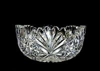 "AMERICAN BRILLIANT CUT CRYSTAL FAN AND STAR SCALLOPED SAWTOOTH RIM 7 1/8"" BOWL"