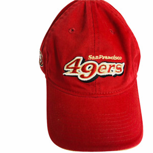 Vintage San Francisco 49ers Spellout Adjustable Curved Hat Cap Reebok On Field