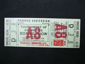 Vintage RARE 1950 Tournament of Champions BOXING Show Ticket Lansing MI  40