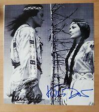Orginal Autogramm Pierre Brice und Karin Door Winnetou