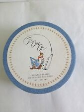 """Pottery Barn Tie One On Cocktail Round 8"""" Plates Set 4 Cowboy Cowgirl Retired EC"""