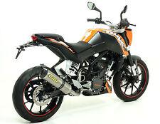 SILENCIEUX ARROW THUNDER TITANE KTM DUKE 125 200 2011/16 - 51010MI+51510PK