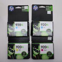 Pack Lot 4 HP 920 XL Cyan Magenta Yellow Cartridges New Sealed GENUINE
