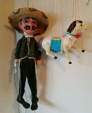 Handmade Horse Pony Marionette Mariachi Gunslinger String Puppet Theater Toys