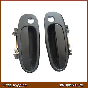 For Geo Prizm Toyota Corolla Outside Front Left Right Black Door handle 93-97