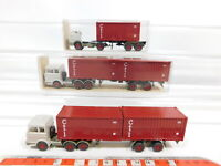 CG430-0,5# 3x Wiking H0/1:87 Container-Sattelzug MB: 524 + 526, NEUW+2x OVP