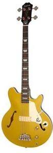 Epiphone Jack Casady Signature Semi Hollow Bass Guitar Metallic Gold