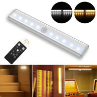 Under Cabinet Lighting 10 LED Lamp Battery Operated Wireless Remote Controller