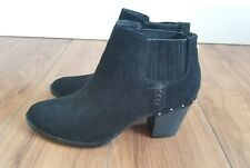 STEVE MADDEN Chelsea Tinker Black Suede Leather Ankle Boots WOMENS 7.5 M Studded