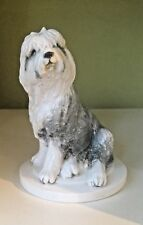 Old English Sheepdog OES Dog Puppy Porcelain Figure. Beautifully Modelled