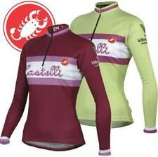 Castelli Women's Retro Print Long Sleeve Fleece Cycling Jersey