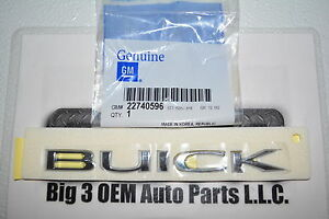 Buick Regal Verano Envision Rear Trunk Liftgate Chrome Nameplate Emblem OEM