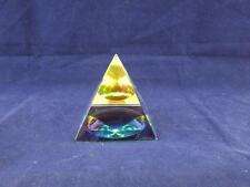 Vidrio Cristal esotéricas místico Pirámide Adorno Pisapapeles.