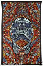 3D Mindful Skull Tapestry Beach Sheet Magical Dorm Decor Cool Wall Art - 60x90""