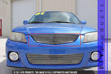 GTG 2001 - 2003 Mazda Protege 1PC Polished Upper Replacement Billet Grille Grill