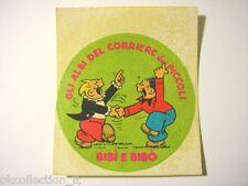 ADESIVO anni '80 / Old Sticker Vintage BIBI' E BIBO' corriere dei piccoli (cm 9)