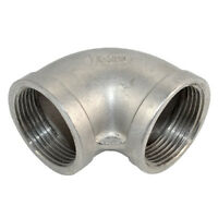 """304 Stainless Steel 1 1/4"""" 1.125"""" Elbow 90 degree Pipe Fitting Female threaded"""