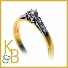 Ladies 18ct Gold 7 Stone Diamond Solitaire Ring SIZE N (Ref 5304) SALE!!!