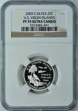2009-S VIRGIN ISLANDS *SILVER* 25C NGC PF70 ULTRA CAMEO