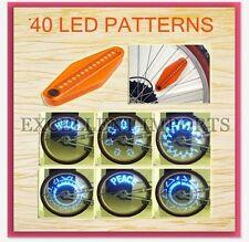 Bike Bicycle Wheel Spoke 14 LED Blue Light 40 Patterns-Waterproof LED light