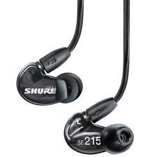 Shure SE215BK BLACK In Ear Sound Isolating Pro Stereo Earphones