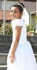❤ Kommunion Kleid, Prinzessin, Fest Größe ca. 128-134 Weiß Rosa  ❤