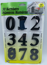 """Hy-Ko Products Set of 30 Self Adhesive Molded Plastic Numbers, 2.375"""" High Black"""